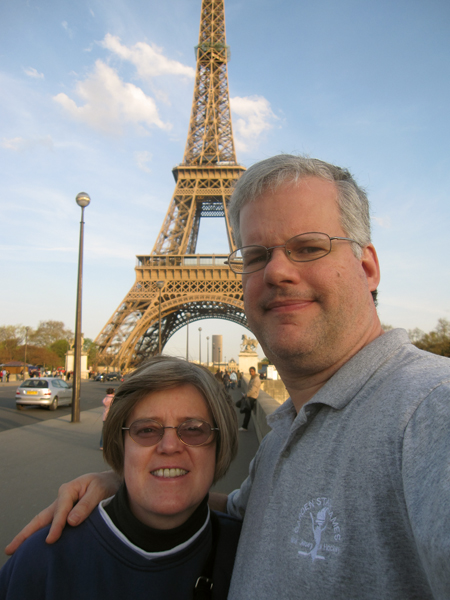 Frank & Debbie at the Eiffel Tower