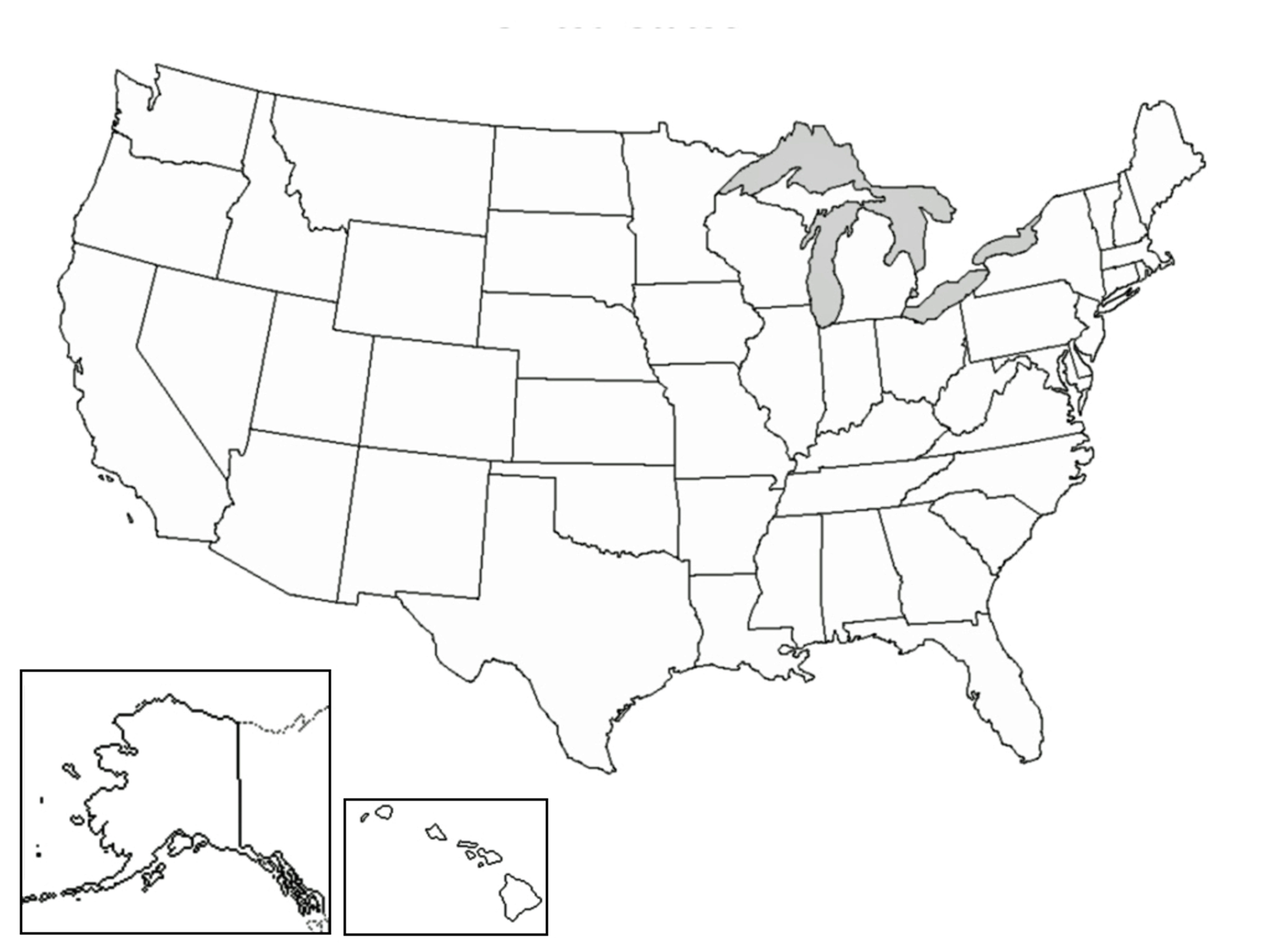 United States Map Without Names Printable