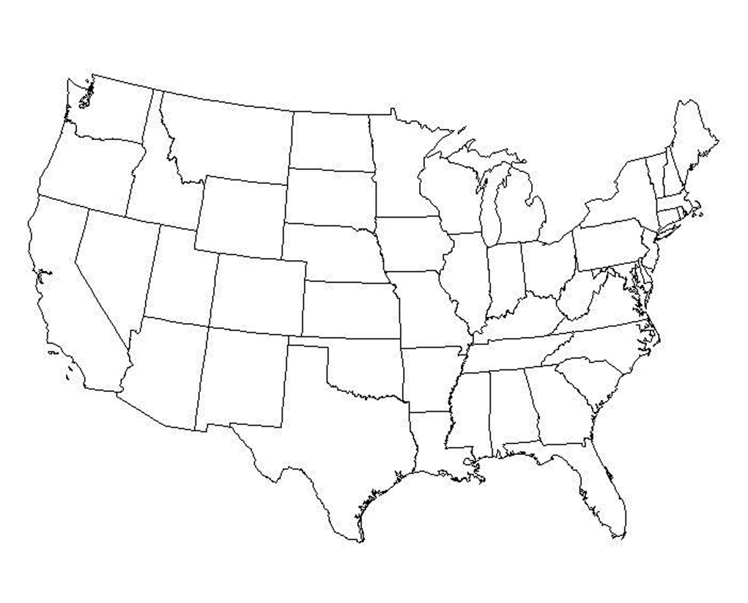 Best Image Of Diagram Blank Us Map Large Download More Maps - Blank map of usa large